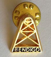 Bendigo Mining Frame Small Pin Badge Rare Vintage Souvenir (G4)