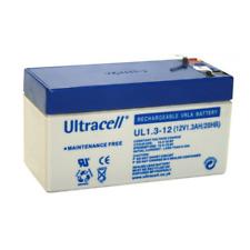 Ultracell UL1.3-12 Batteria al piombo 12V 1.3Ah ad alta corrente di scarica 18A