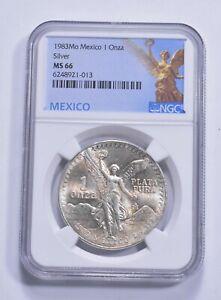1983 MS66 Mexico Mexican Libertad Graded NGC 1 oz Silver .999 Fine *350
