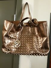 Gillian New York Tote Handbag Bronze Color with Gillian Logo and Gold Studs...