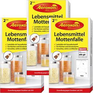 Aeroxon Lebensmittel-Mottenfalle Mottenschutz Mottenbekämpfung Mottengift 6 Stk.
