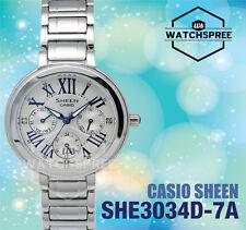 Casio Sheen Swarovski Elements Multi-Hand Series Watch SHE3034D-7A