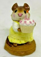 "RARE RETIRED Wee Forest Folk 1983 M-99 ""Birthday Girl"" (Yellow Dress) Signed WP"