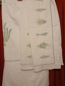 100% Cotton embroidered Double Duvet Cover & 2 Pillowcase Bedding Set