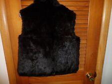 Ladies size medium reversible genuine fur black vest