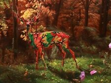 Camo Deer in Autumn by Ron English - Signed Silk Screen - Limited Edition of 75