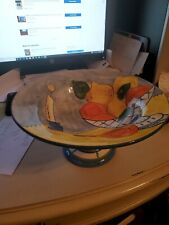 Julia Junkin Collectible Ceramic Bowl ~Footed