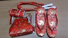 Japanese Kimono ZORI,BAG, Obijime,Hakoseko,Sensu SET  for children (GE39)
