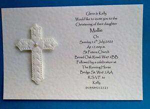 15 Personalised Christening/Holy Communion invitations
