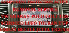 VW COMPONENT PROTECTION ACTIVE REMOVAL SERVICE ARTEON PHAETON E'UP FOX BEETLE
