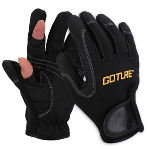 Winter Fishing Glove 2 Cut Finger Anti-slip Waterproof Neoprene Glove Outdoor
