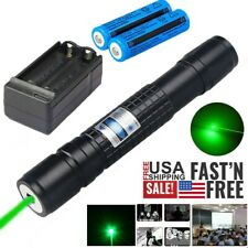 New listing 600 Miles 532nm Green Laser Pointer Pen Single Light Rechargeable Lazer Portable