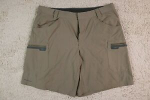 Columbia Shorts Mens 38 Titanium Cargo Nylon Hiking Gray Lightweight