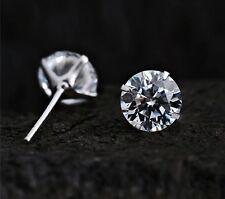 unisex 18k white gold GP AAA zircon CZ zircon lady earrings studs E188a