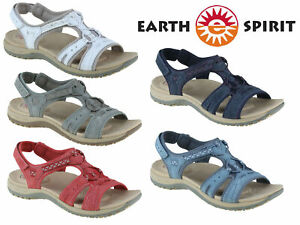 Ladies Earth Spirit Sandals Summer Comfort Touch Fastening Strappy Walking Shoes