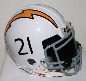 LaDainian Tomlinson San Diego Chargers Custom Speed Riddell Mini Helmet w/ visor