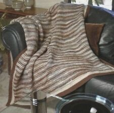 Knitting Pattern ~ Earth Tones Afghan ~ Instructions