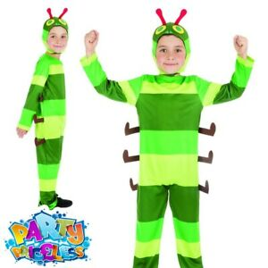 Kids Very Hungry Caterpillar Costume Book Day Week Girls Boys Fancy Dress Outfit