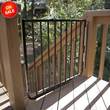 Baby Safety Gate for Stairs Stairway Special Child Gate Babies- Black