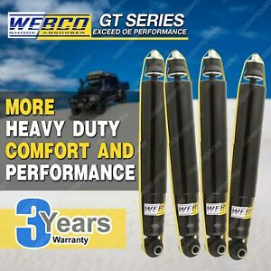 Front Rear Webco HD Shock Absorbers for HOLDEN JACKAROO UBS 4WD Wagon Monterey