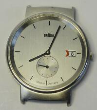Ältere Design Lubs Uhr Datum Edelstahl BRAUN 3815 ohne Armband