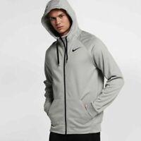 Nike Men's Dri-FIT Therma Grey Full-Zip Training Hoodie AJ4450 091 S M L XL 2XL