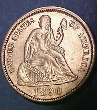 1890-P Seated Dime ~Gem Nearly Uncirculated ~White ~Sharp Details ☆Make A Offer☆