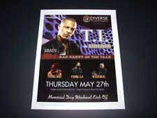 T.I. & Friends Grand Hustle Rap Show 15x12 Matted Event Ad/Art Poster New