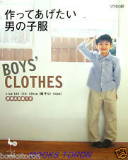 Handmade Boy's Clothes /Japanese Children's Clothes Sewing Pattern Book
