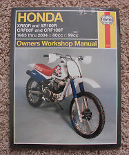 HONDA XR80/100R CRF80/100F OWNERS WORKSHOP MANUAL 1985 TO 2004 80CC 99CC HAYNES