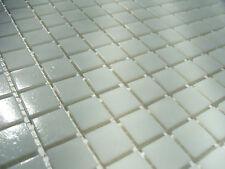 1 qm - glasmosaik mosaik fliesen bad pool dusche weiß - durchgefärbt TOP !