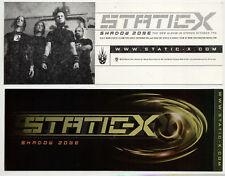 Static-X Shadow Zone XXL Promo Bumper Sticker / Decal