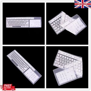 Universal Desktop Keyboard Protective Skin Silicone Protector Cover 5 Colours UK