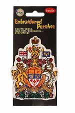CANADA COAT OF ARMS EMBROIRERED IRON-ON PATCH CREST BADGE 3 X 4 INCHES .. NEW