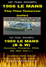 FORD GT40 / 24 HRS LE MANS 1966-69 FERRARI PORSCHE 2FILMS 90 MIN dvd