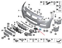 BMW 3 F31 Front M Sport Bumper Right Grille Trim 51118062636 2016 New Genuine
