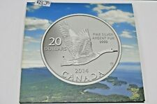 2014 CANADA 20 DOLLARS 9999 FINE SILVER AGENT PUR