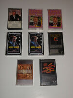 KENNY ROGERS (8) EIGHT CASSETTE TAPE LOT DOTTIE WEST TEN YEARS OF GOLD GAMBLER