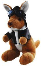 *NEW* AUSTRALIAN SOUVENIR KANGAROO PILOT WITH OUTFIT SOFT PLUSH TOY 18CM