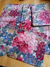 Sanderson  Fabric Napkins Set Of 4 Unused Pink Floral vintage