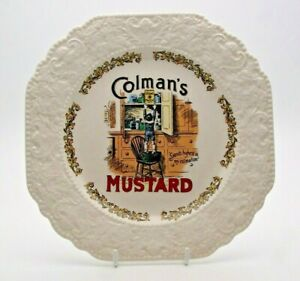 VINTAGE ADVERTISING LORD NELSON POTTERY 'COLMAN'S MUSTARD' PLATE - PERFECT