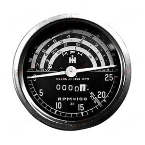 TACHOMETER FOR INTERNATIONAL B275 B414 TRACTORS. EARLY TYPE.