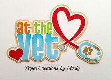 CRAFTECAFE MINDY VET DOG PUPPY CAT KITTEN premade paper piecing scrapbook title