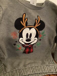 Disney Store Mickey Mouse 9-10 Year Old Christmas Holiday Reindeer Sweater