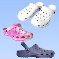 Ladies Womens Summer Casual Work Flat Clog Beach Summer Pool Hospital Shoes Size