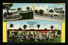 Bay Bridge Court postcard Pensacola, Florida FL US 98 Multi View Gas Station