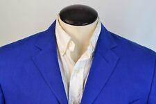 Ralph Lauren Purple Label Solid Blue 100% Linen Sport Coat Jacket Sz 42L EUC