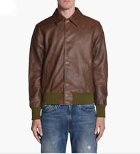 Levis Vintage Clothing Leather Jacket Mens XL Brown Green Distressed NWT $1,200