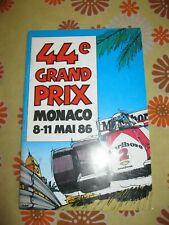 Ancien PROGRAMME 44e GRAND-PRIX AUTOMOBILE DE MONACO F1 1986 ACM Monte Carlo 86