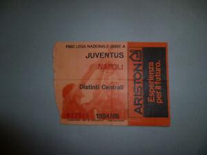 Biglietto Juventus Napoli 1984-85 Calcio Serie A